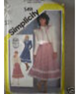 5491 Vintage Simplicity Sewing Pattern Skirt Blouse Quilted Jacket - $4.83