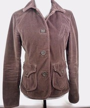 Gap Womens Brown Corduroy Button Front Lined Jacket Blazer Size 6 - $12.86