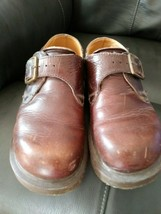 Dr. Martens 8254 Brown Monk Strap Buckle Shoes Womens English Size 5, US 7 - 7.5 - $69.95