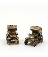 Vintage Mini Antique Metal Car Salt and Pepper Shakers - $14.24