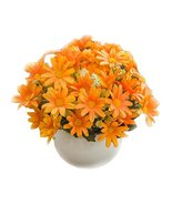 Artificial Flowers Plastic Fake Flower Potted Home Decor #2 - £19.73 GBP