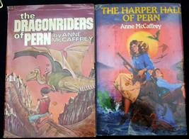 Lot 2 Anne McCaffrey SFBC Omnibus DRAGONRIDERS OF PERN HARPER HALL OF PERN - $9.70