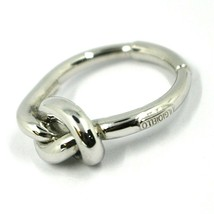 18K WHITE GOLD INFINITE CENTRAL RING, INFINITY, BRAIDED, KNOT, MADE IN ITALY image 2