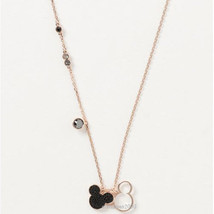 SWAROVSKI Mickey and Minnie Pendant Necklace Pink Gold From Japan F/S Ne... - $225.39