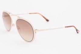 Tom Ford Dashel Rose Gold / Brown Gradient Sunglasses TF508 28F - $175.42