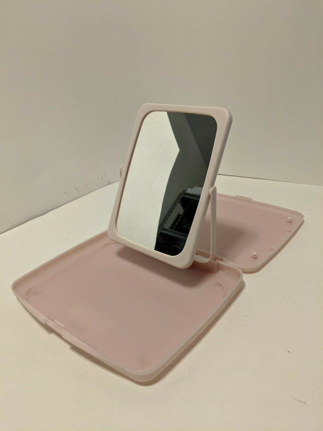Vintage Mary Kay Travel 2-Sided Mirror Make-up Tray Case in Pink - $7.91