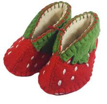 Berry Strawberry Zooties Baby Booties Silk Road Bazaar 0-12 month Slippe... - $25.74