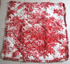 Pottery Barn Pillow Sham EURO TOILE RED CASTLE ... - $37.62