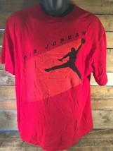 Jordan Jumpman Rot Orange T-Shirt Schwarz Größe XL - $20.42