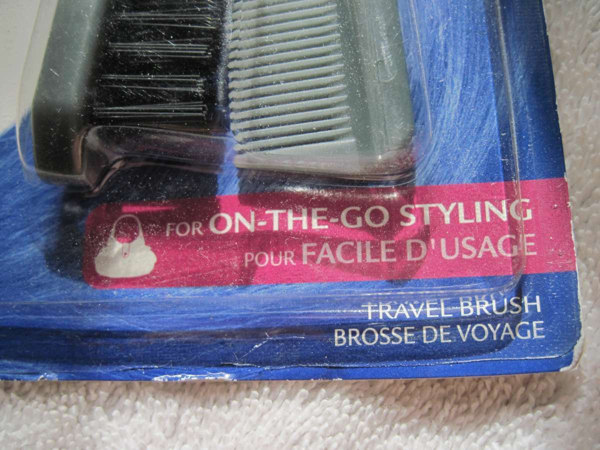 Goody Gray Plastic Folding Travel Size Purse Hair Brush Comb Pocket On Go Style