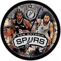 "San Antonio Spurs Homemade 8"" NBA Wall Clock w/ Battery Included - $23.97"