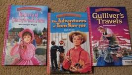 Treasuey of Illustrated Classics Hardback Lot Gulliver's Travelers Tom S... - $16.05