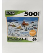 Lang 500 Pc Jigsaw Puzzle - New - Snowy Evening - $29.99