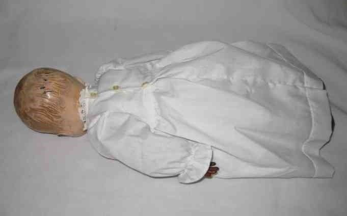 "SO SWEET Vintage 15"" Hard Plastic Magic Skin BABY Doll"