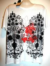 Hugo Boss  White Graphic Cotton Men's T- Shirt Size 2XL NEW - $78.21