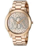 Michael Kors Women's Slim Runway Logo Gold-Tone Watch MK3590 - $105.83