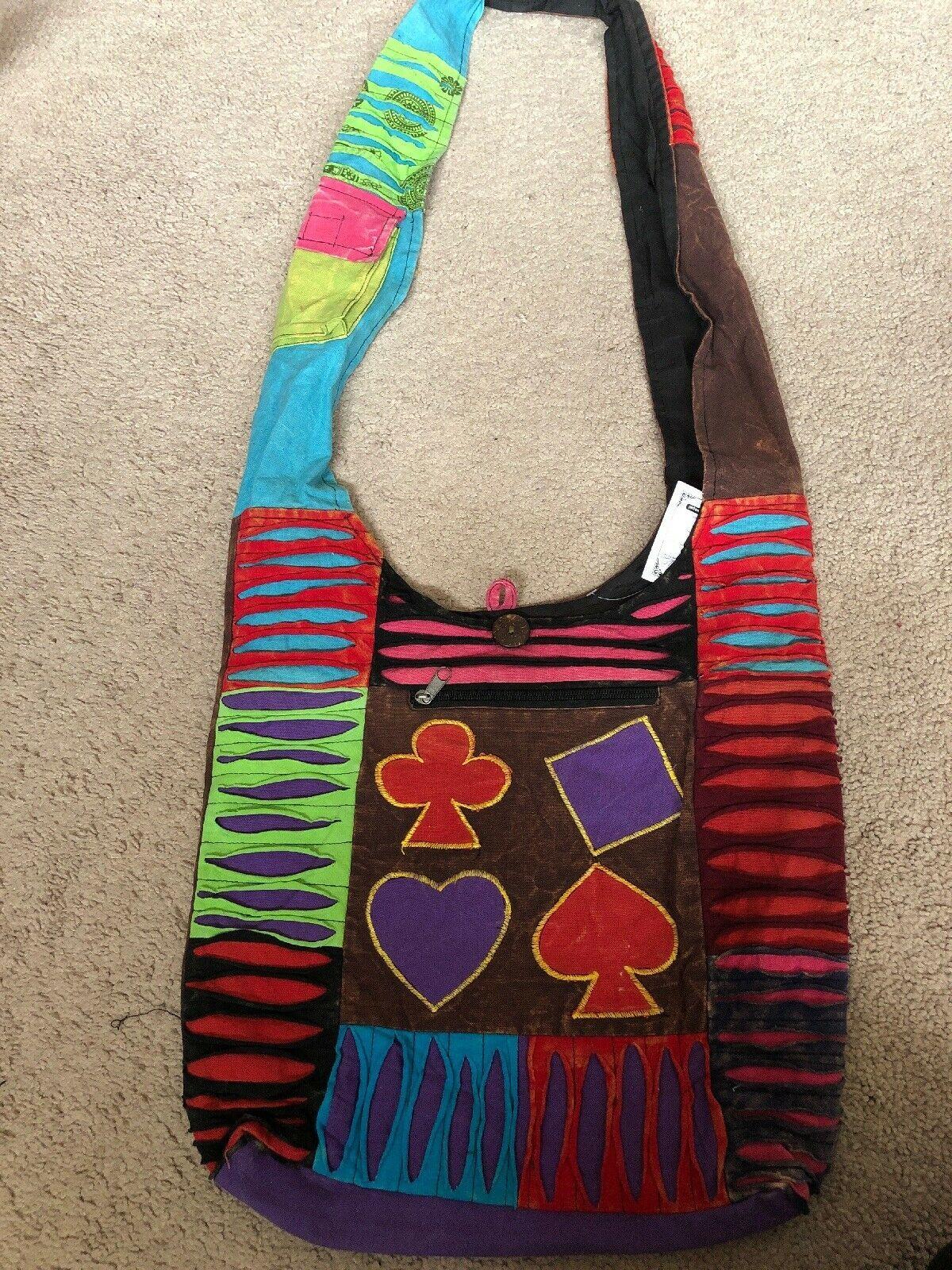 #1 Gift Nepal Hobo Bag, Hippie Cotton bag, Boho Purses, Nepali handmade Tie dye