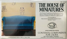 House of Miniatures 1:12 Chippendale Sofa Circa 1750-1790 Kit #40015 Sealed - $29.02