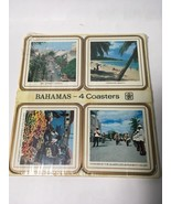 VTG 4 Pc Celluware Pimpernel Coasters Bahamas Islands Travel New Old Sto... - $18.99