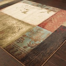 """7x10 (6'7"""" x 9'6"""")  Transitional Contemporary Floral Geometric Area Rug - $249.50"""