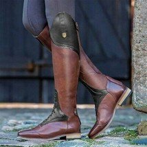Women's Over The Knee Boot Women Western Riding Boots Winter Female Retro Poi... - $64.21+