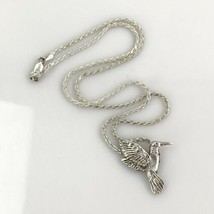 "Sterling Silver Hummingbird Pendant On 18"" Sterling Chain - $20.85"