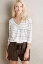 New Anthropologie Erinna Gray Romper by Elevenses $118 Size Small - $51.48