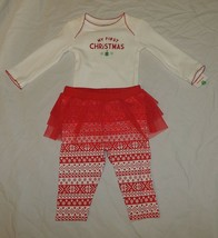 2388159f9115 New Carters Baby Girl First Christmas Outfit Size 12M Long Sleeve Pants ...  -