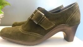 AEROSOLES Womens Green Outlast Nubuck Leather H... - $9.89