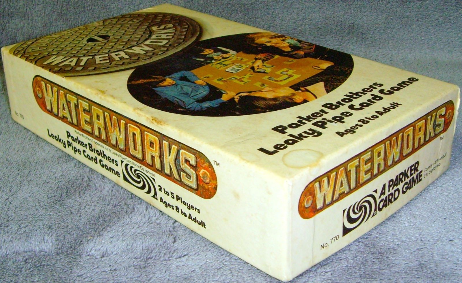 Vintage Waterworks Card Game 1972 Parker Brothers COMPLETE 770 Leaky Pipe RARE