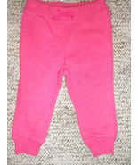 NWT GAP Baby toddler Girls fleece pants pink Sz 12-18 m - $12.86