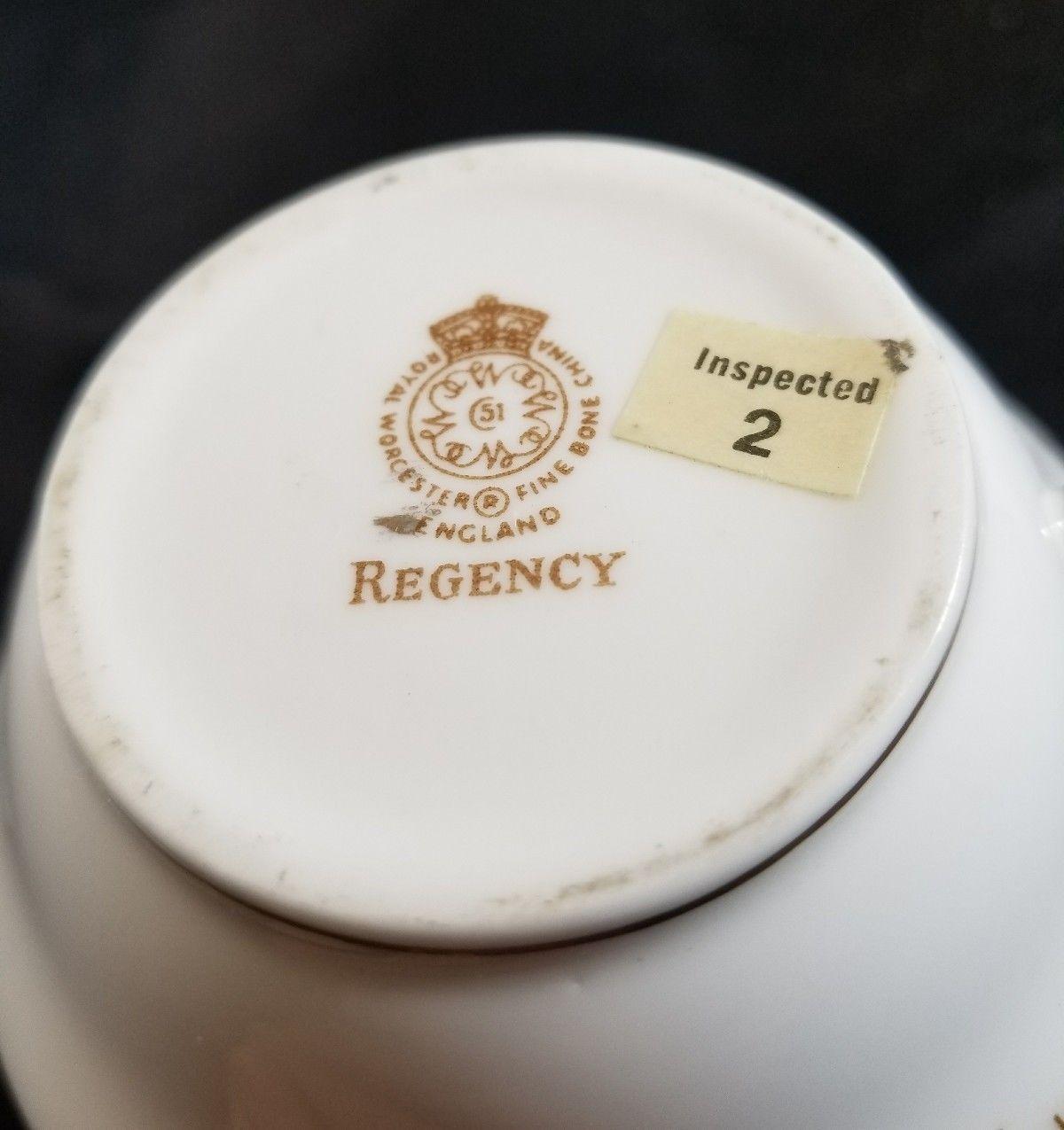 Royal Worcester REGENCY Blue Creamer