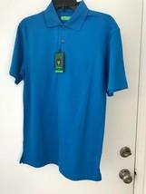 Oxford Golf Earth tech Mens XS Blue Short Sleeve Polo Shirt NWT - $20.33