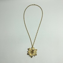 Vintage Monet Boho Flower Pendant Necklace - $19.80