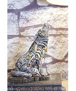 Ebros Steampunk Silver Robotic Alpha Wolf Howling Statue with Sculpted C... - €22,24 EUR