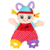 Newborn Cute Cartoon Animal Hand Bells Plush Baby  Infant Playmate Teether - $5.99