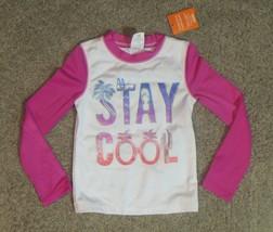 Gymboree Stay Cool Sunscreen Swimwear Long Sleeves Rash Guard Top Shirt XS 4 - $18.55