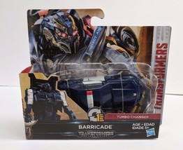 Transformers: The Last Knight 1-Step Turbo Changer - Cyberfire Barricade... - $11.26