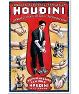 Houdini Escape Artist Handcuff & Prison Breaker Vintage Poster Reproduction - $32.99+