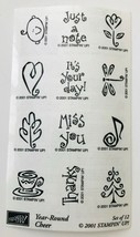 Year Round Cheer 12 Rubber Stamps Little Notes Pictures Stampin Up New U/M 2001 - $16.44