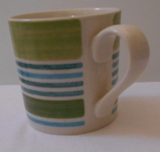 "Johnson Brothers- Woodland Stripe GREEN Coffee mugs  Set of 2   3 1/2"" NWT - $14.07"