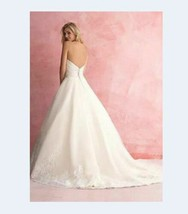 Allure Bridal 2813 Size 12 Ivory Women Wedding Formal Long Ball Gown Swe... - $326.32