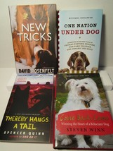 All NEW lot 4 DOG BOOKS Hard & Soft Cover STORY MYSTERY HUMOR ++ Nice! - $14.99