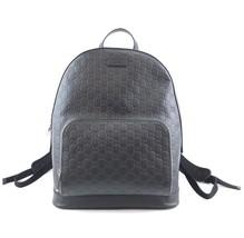 #33573 Gucci Logo Guccissima Black Gg Supreme Canvas Backpack - $1,500.00
