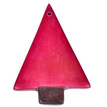 Tabaka Chigware Hand Carved Kisii Soapstone Red Christmas Tree Ornament image 2