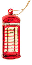 Pottery Barn telephone booth Christmas ornament red London - $15.99