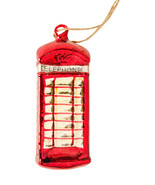 Pottery Barn telephone booth Christmas ornament red London - $115.99