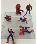 Marvel Spider Man Toy Figures 6pc Lot Superhero Hasbro McDonalds A1 - $10.84