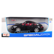 Porsche 911 Carrera S Metallic Bluish Gray with Red Interior 1/18 Diecas... - $42.98