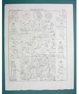 MYTHOLOGY Gods Diana Luciferia Aphrodite Artemis Bathing - 1825 Antique ... - $9.79